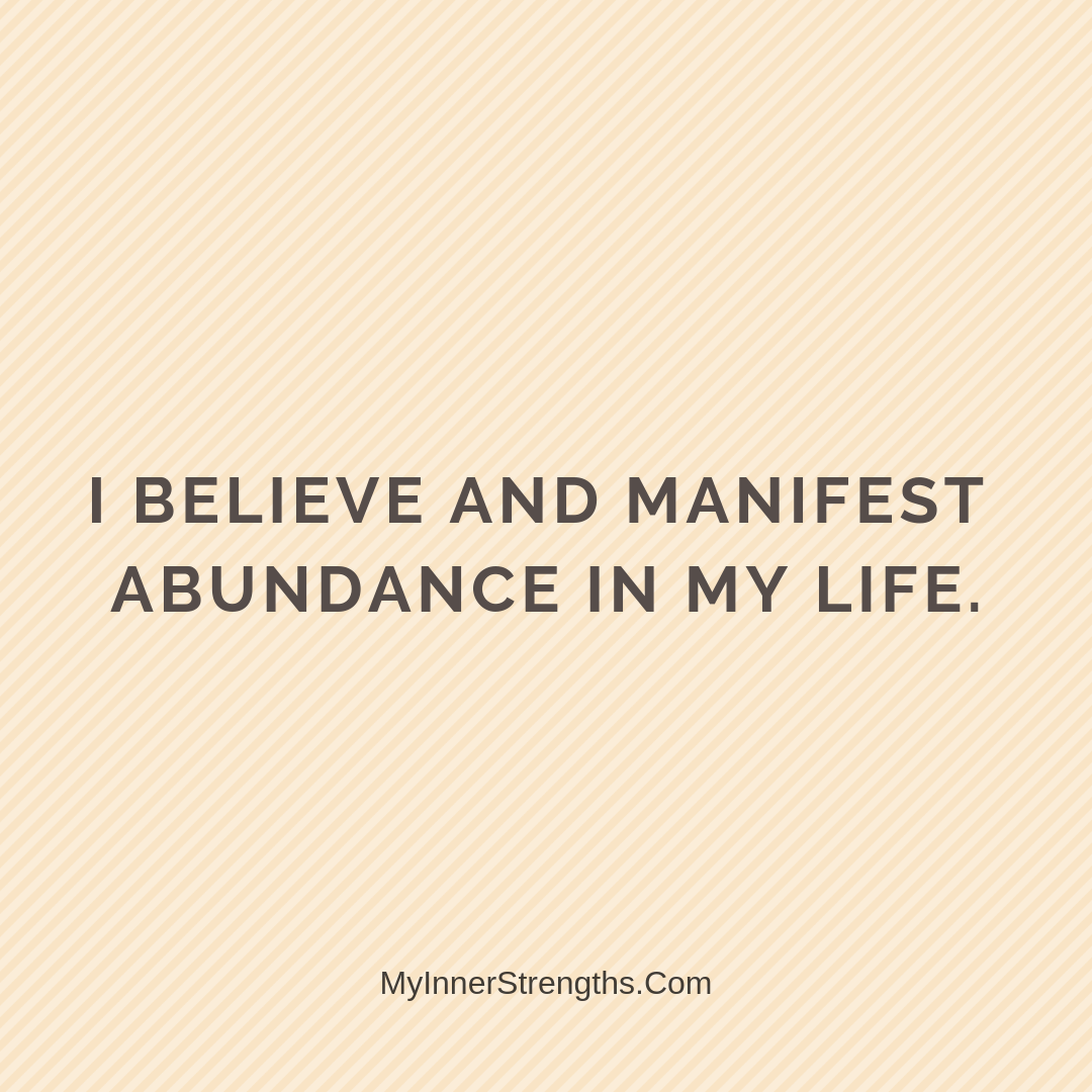 Wealth Affirmation Money 20 | My Inner Strengths