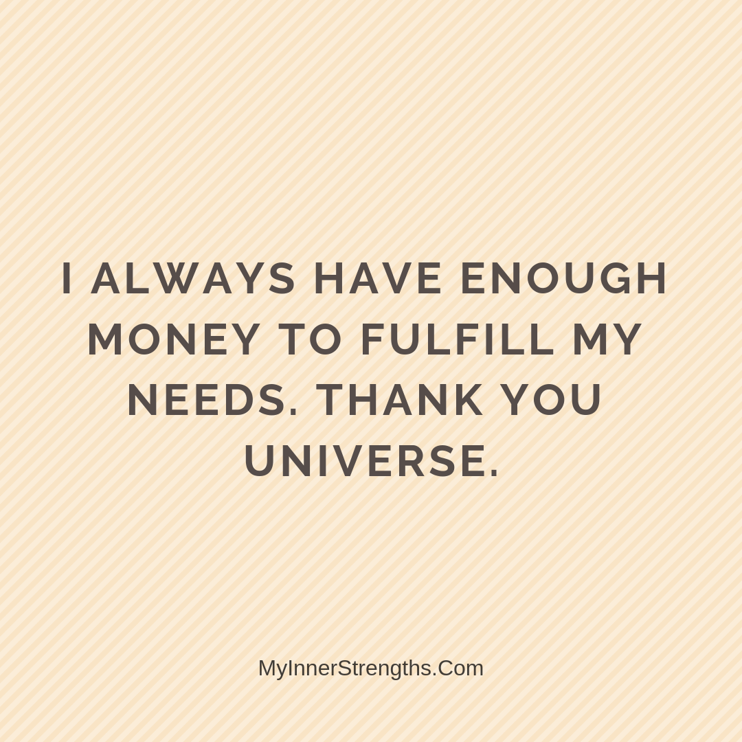 Wealth Affirmation Money 24 | My Inner Strengths