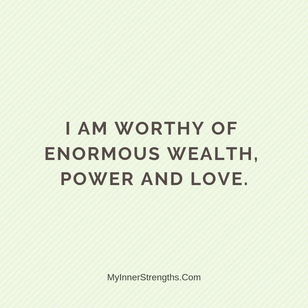 Wealth Affirmation Money 8 | My Inner Strengths